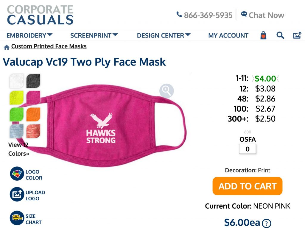 VC19 product page